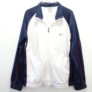Men's Nike Warm-up Track Jacket Full Zip Large
